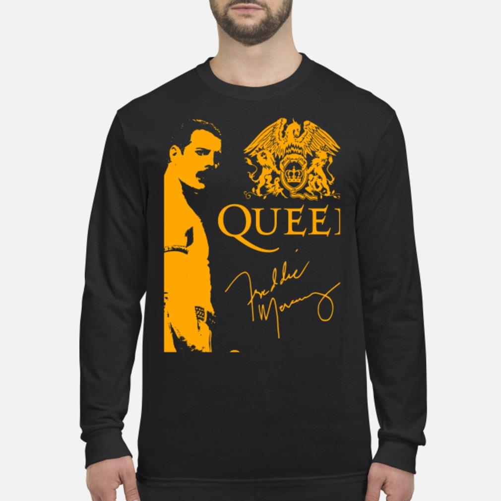 Queen signature Freddie Mercury shirt Long sleeved