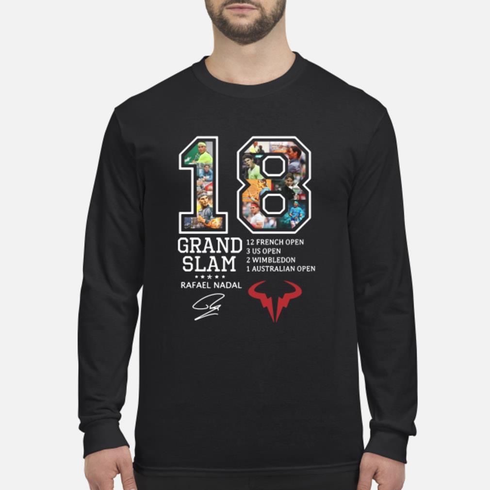 Rafael Nadal 18 Grand Slam 12 French open signature shirt Long sleeved
