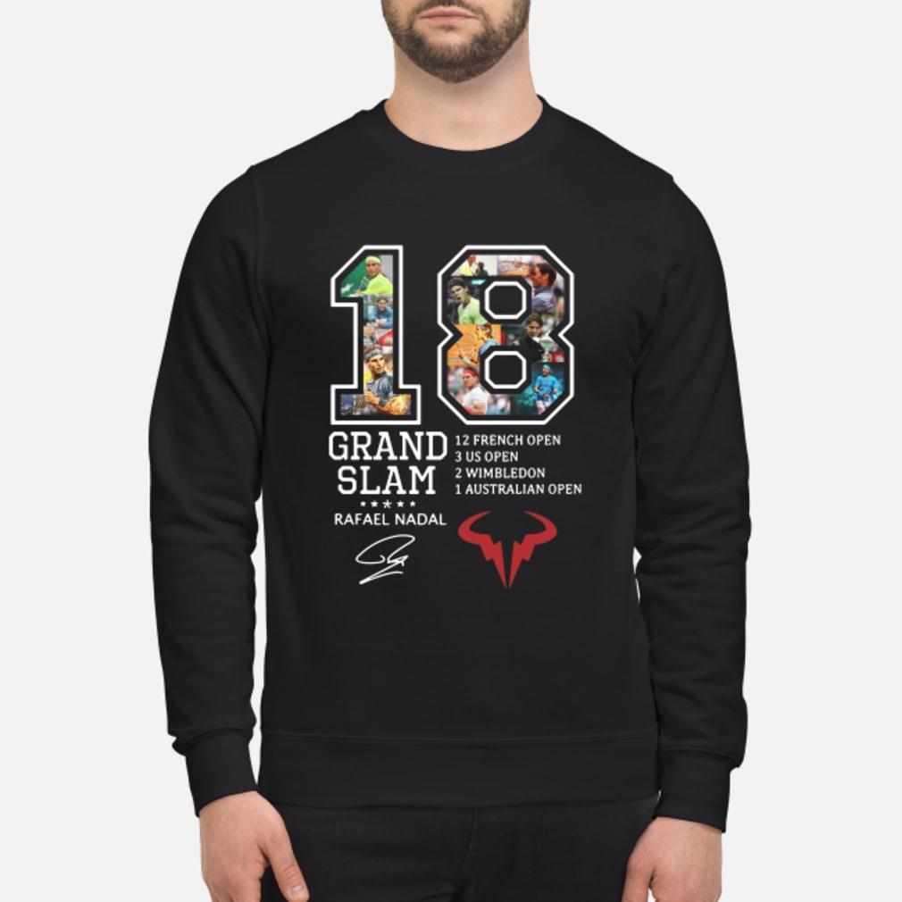 Rafael Nadal 18 Grand Slam 12 French open signature shirt sweater