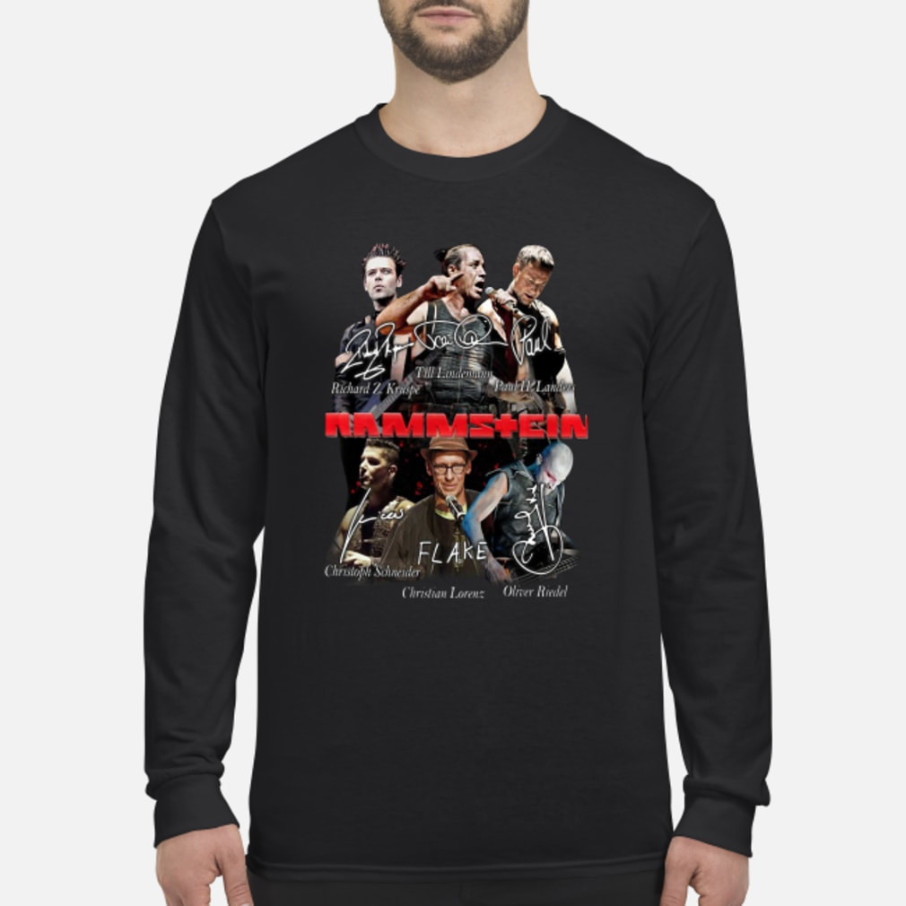 Rammstein flake shirt Long sleeved
