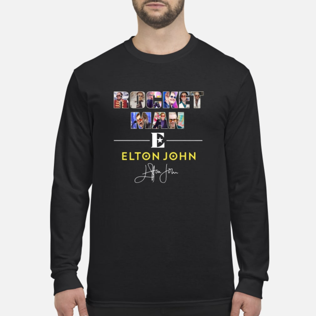 Rocket man Elton John signature shirt long sleeved