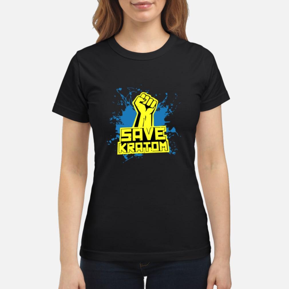 Save Kratom T Shirt ladies tee