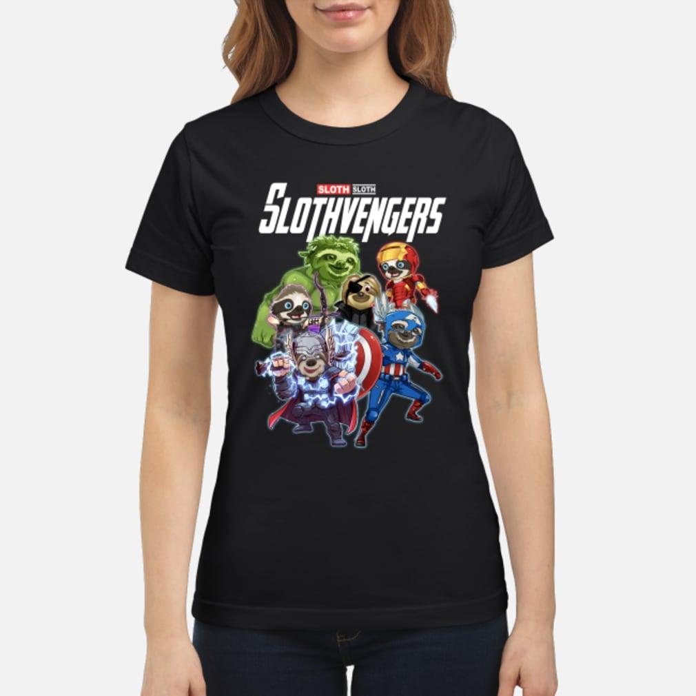 Sloth slothvengers avengers endgame shirt ladies tee