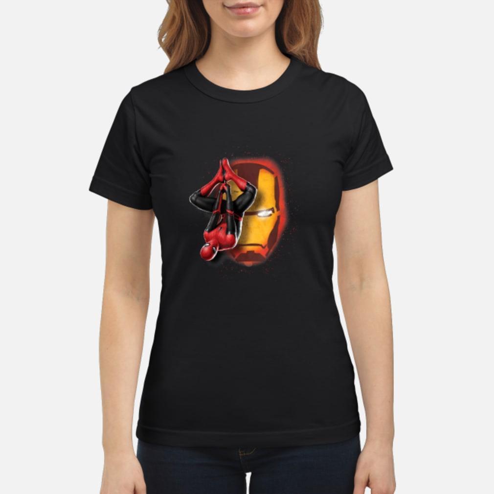 Spider man Iron man shirt ladies tee