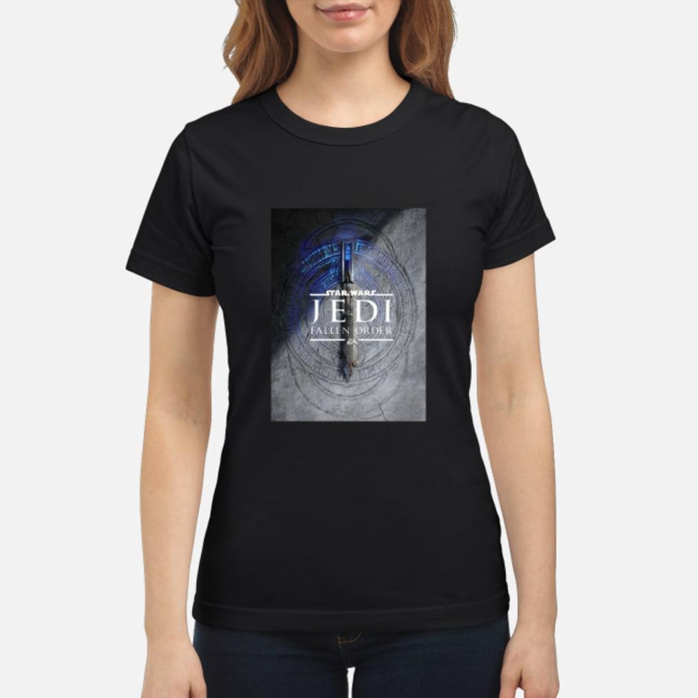 Star Wars Jedi Fallen Order Teaser Image Lightsaber T-Shirt ladies tee