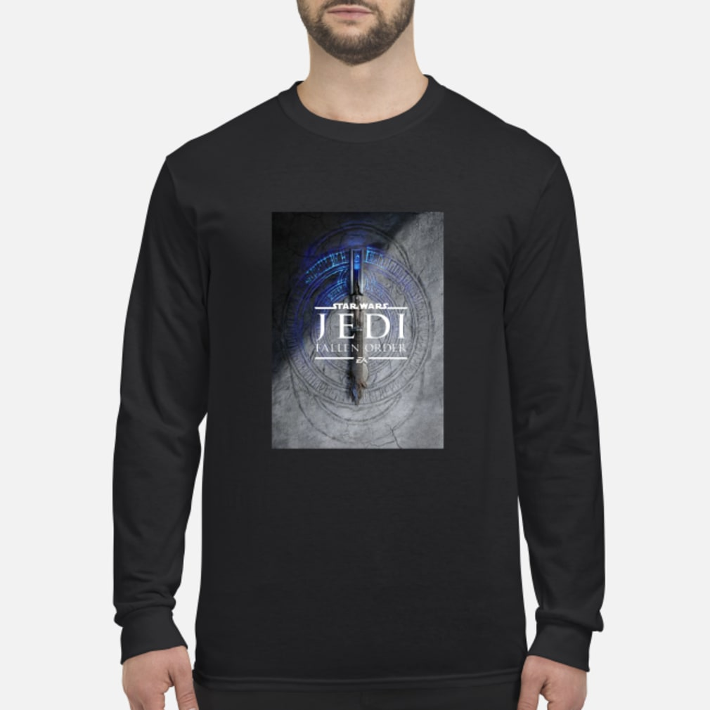 Star Wars Jedi Fallen Order Teaser Image Lightsaber T-Shirt Long sleeved