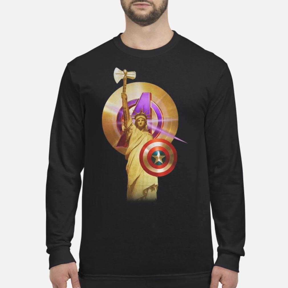 Statue Of Liberty Captain America shirt Long sleeved