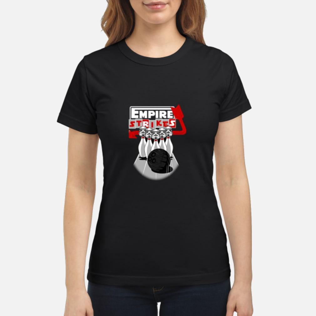 Stormtrooper Bowling Empire Strikes Star Wars T-Shirt ladies tee