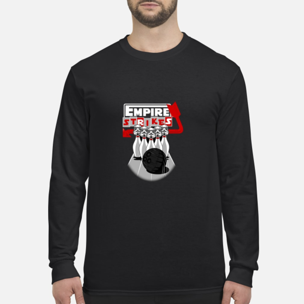 Stormtrooper Bowling Empire Strikes Star Wars T-Shirt Long sleeved