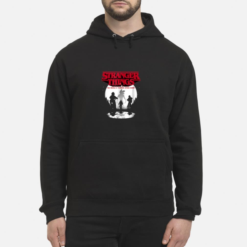 Stranger Things The World Is Turning Upside Down shirt hoodie