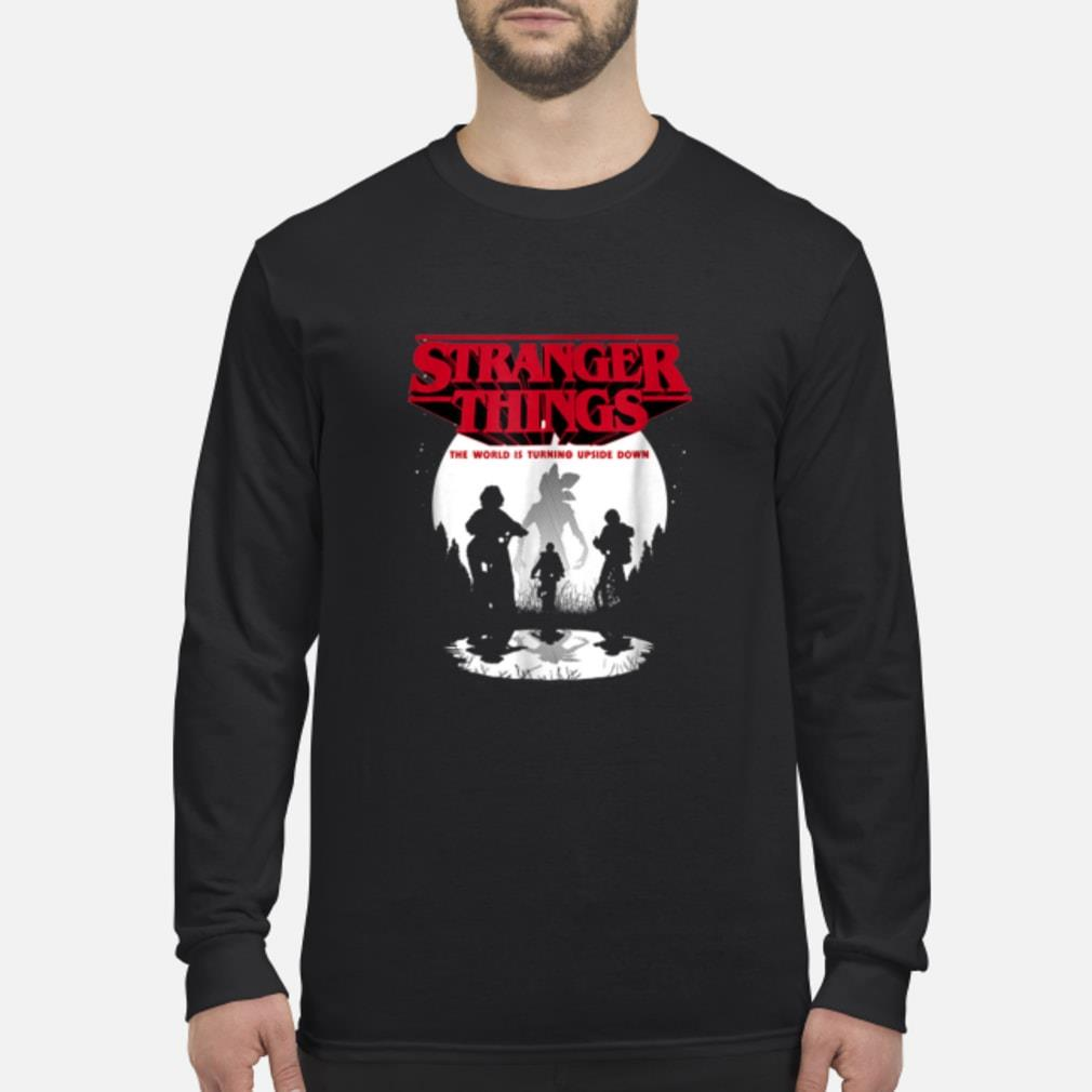 Stranger Things The World Is Turning Upside Down shirt Long sleeved