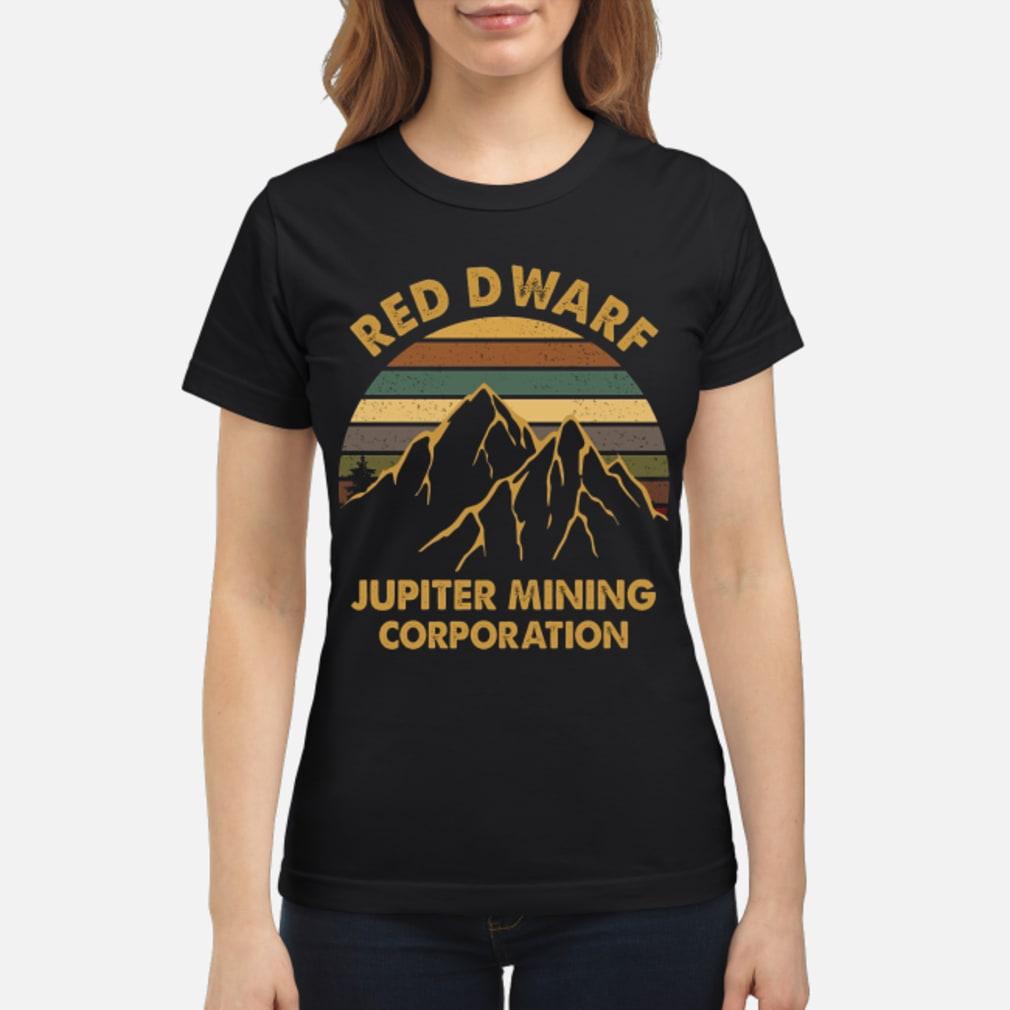 Sunset Red Dwarf Jupiter Mining Corporation Shirt ladies tee