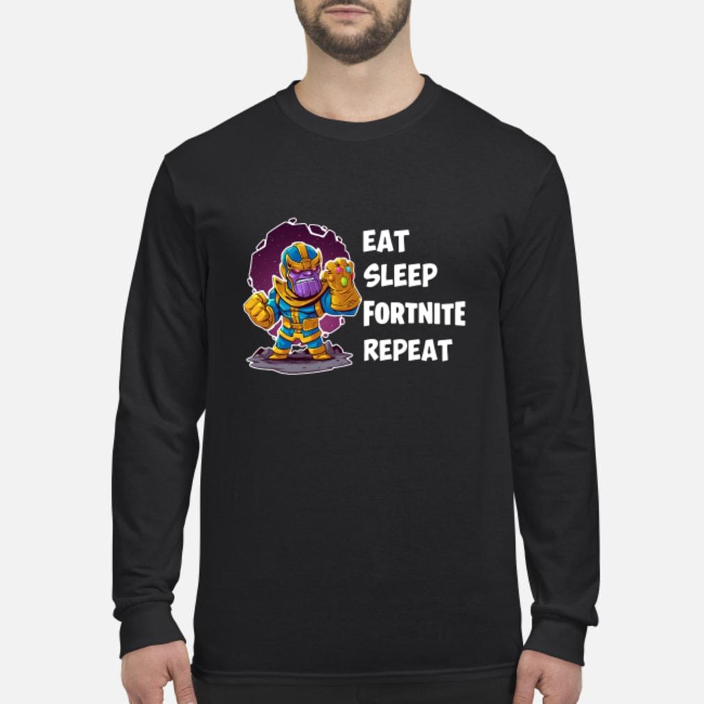 Thanos Eat Sleep Fortnite Repeat Shirt Long sleeved