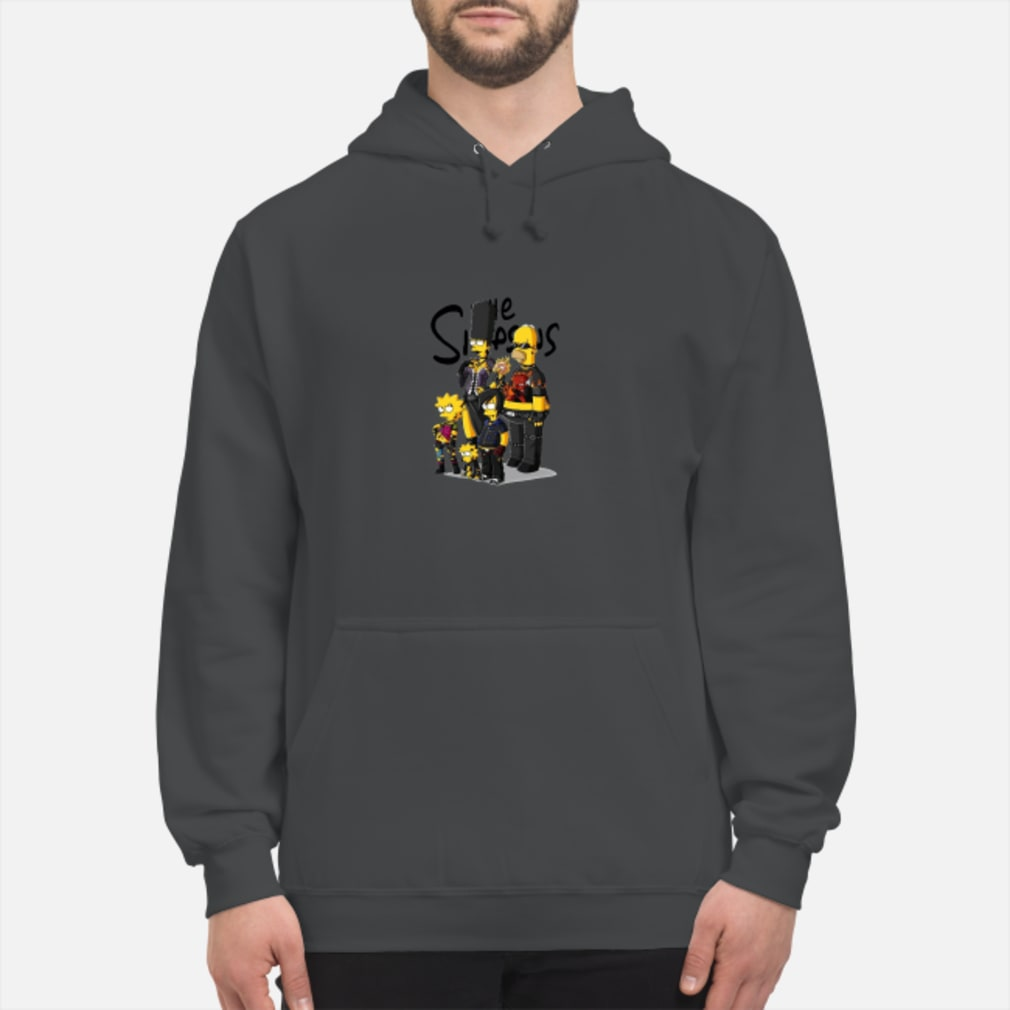 The Simpsons family rock'N'roll shirt hoodie