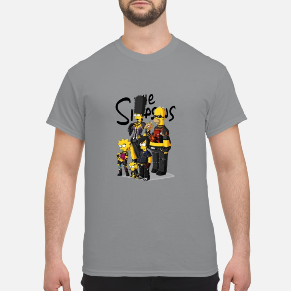The Simpsons family rock'N'roll shirt