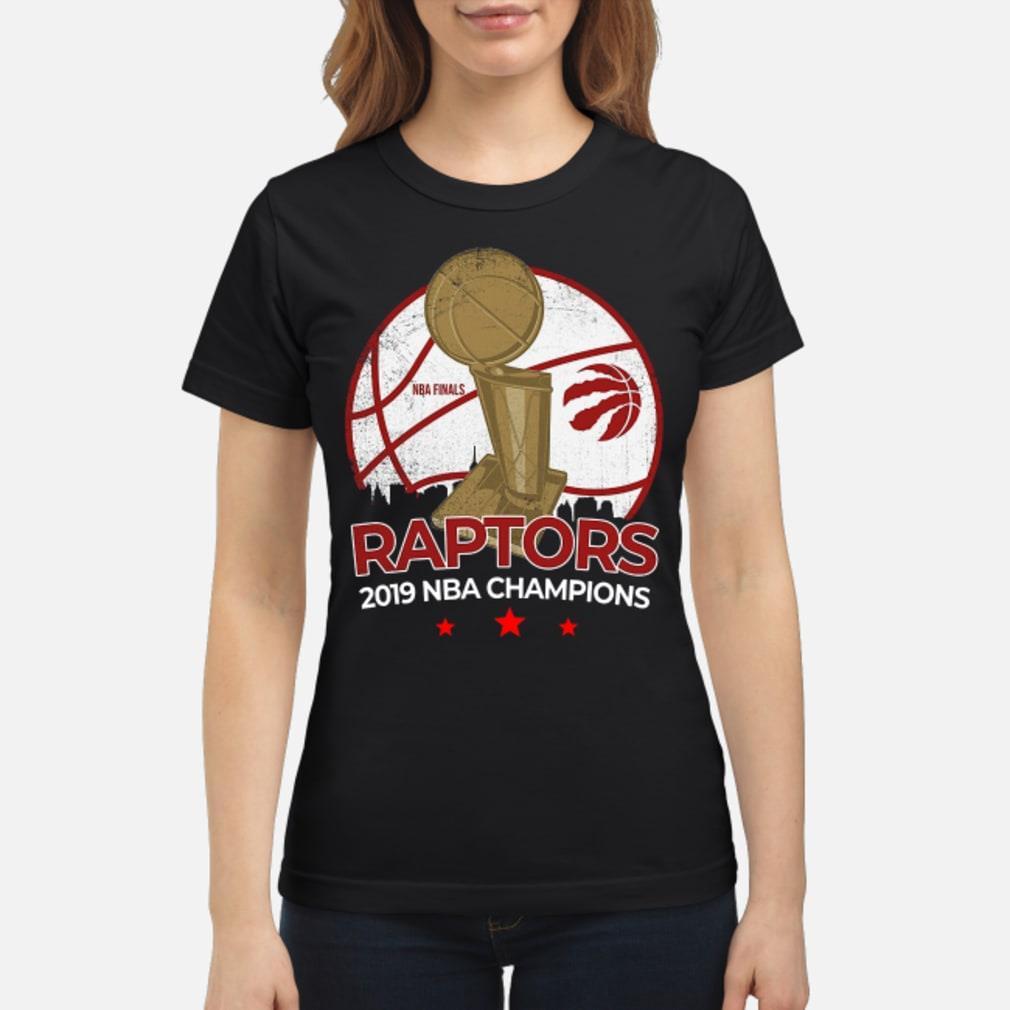 Toronto Raptors NBA 2019 Finals Champions Roster Shirt ladies tee