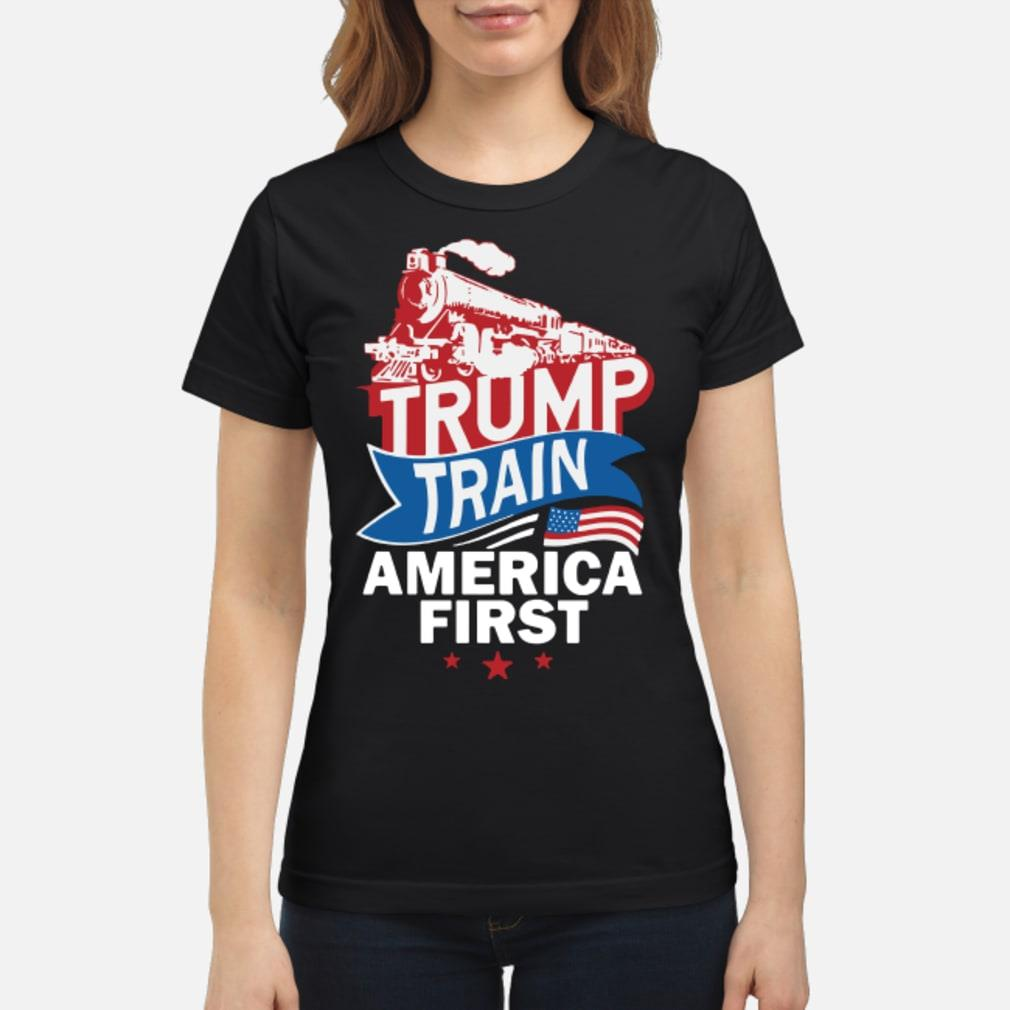 Trump Train America First Shirt ladies tee