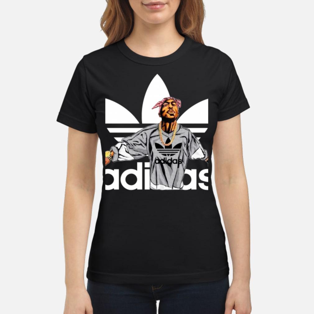 Tupac Shakur Adidas shirt ladies tee