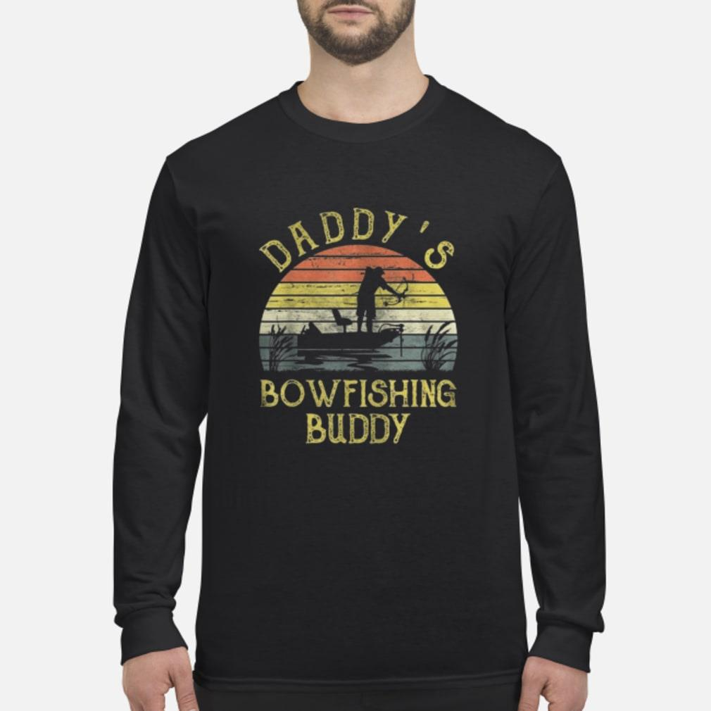 Vintage Daddy's Bowfishing Buddy Father Day Shirt long sleeved