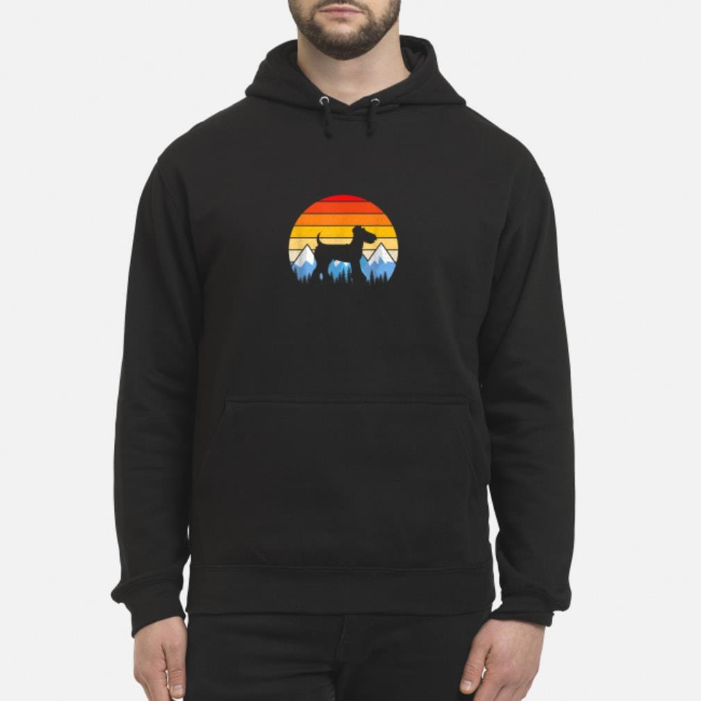 Vintage Retro Airedale Terrier shirt hoodie