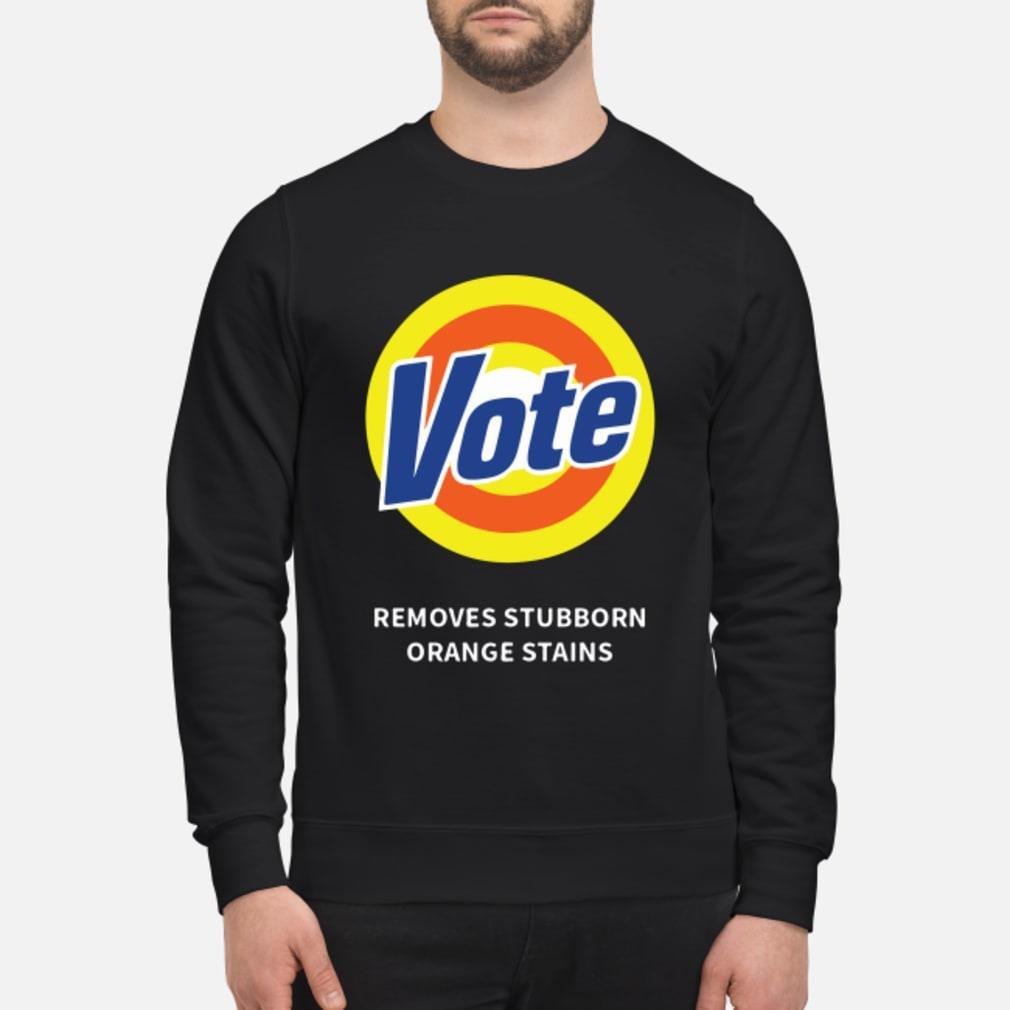 Vote Removes Stubborn Orange Stains Shirt sweater