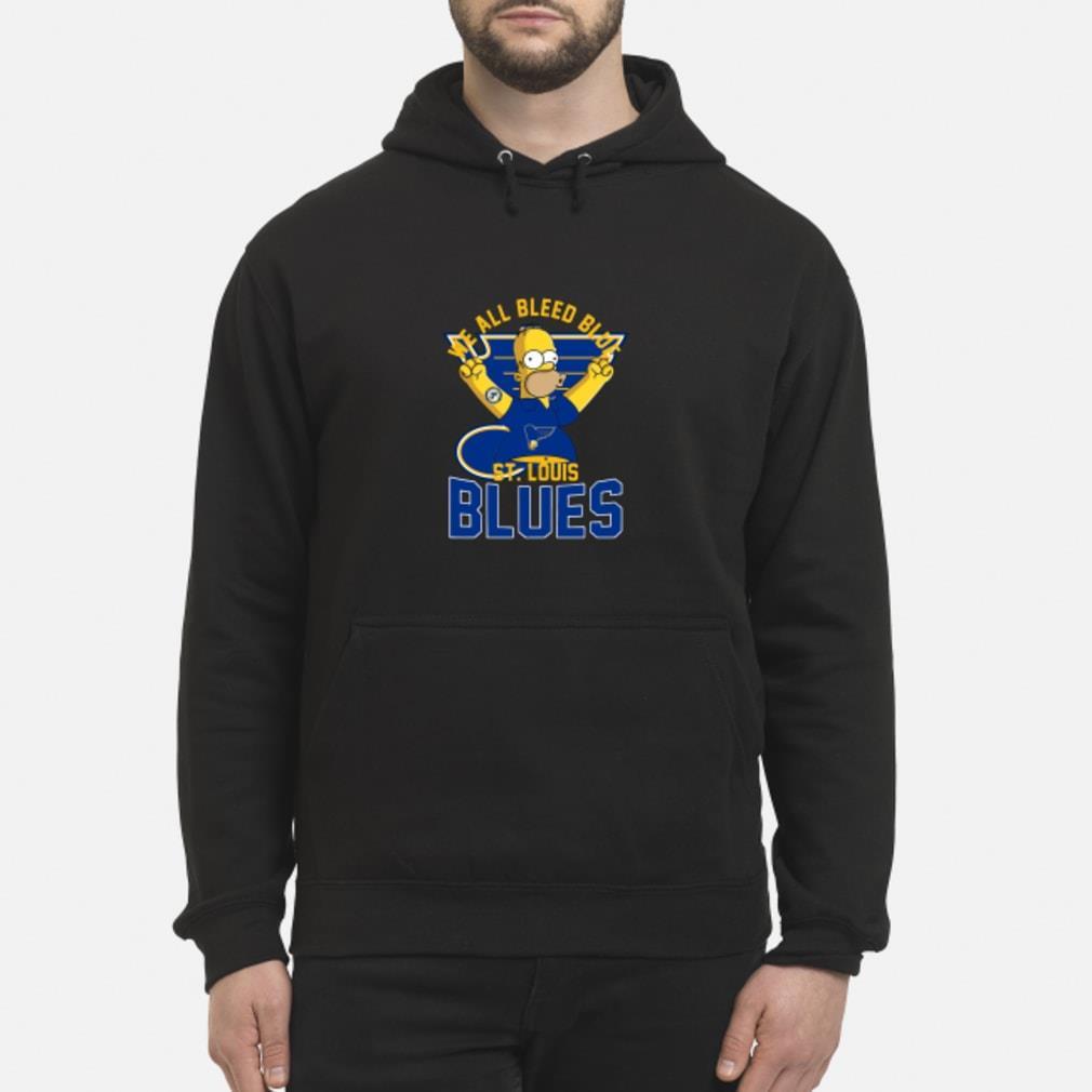 We All Bleed Blue Homer Simpson St. Louis Blues 2019 Stanley Shirt hoodie
