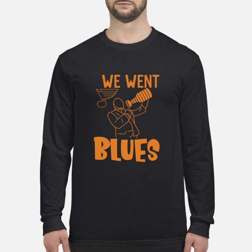 We went blues shirt Long sleeved