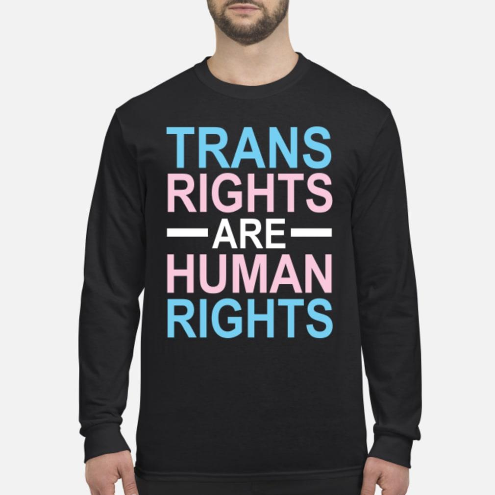 trans rights are human rights shirt long sleeved