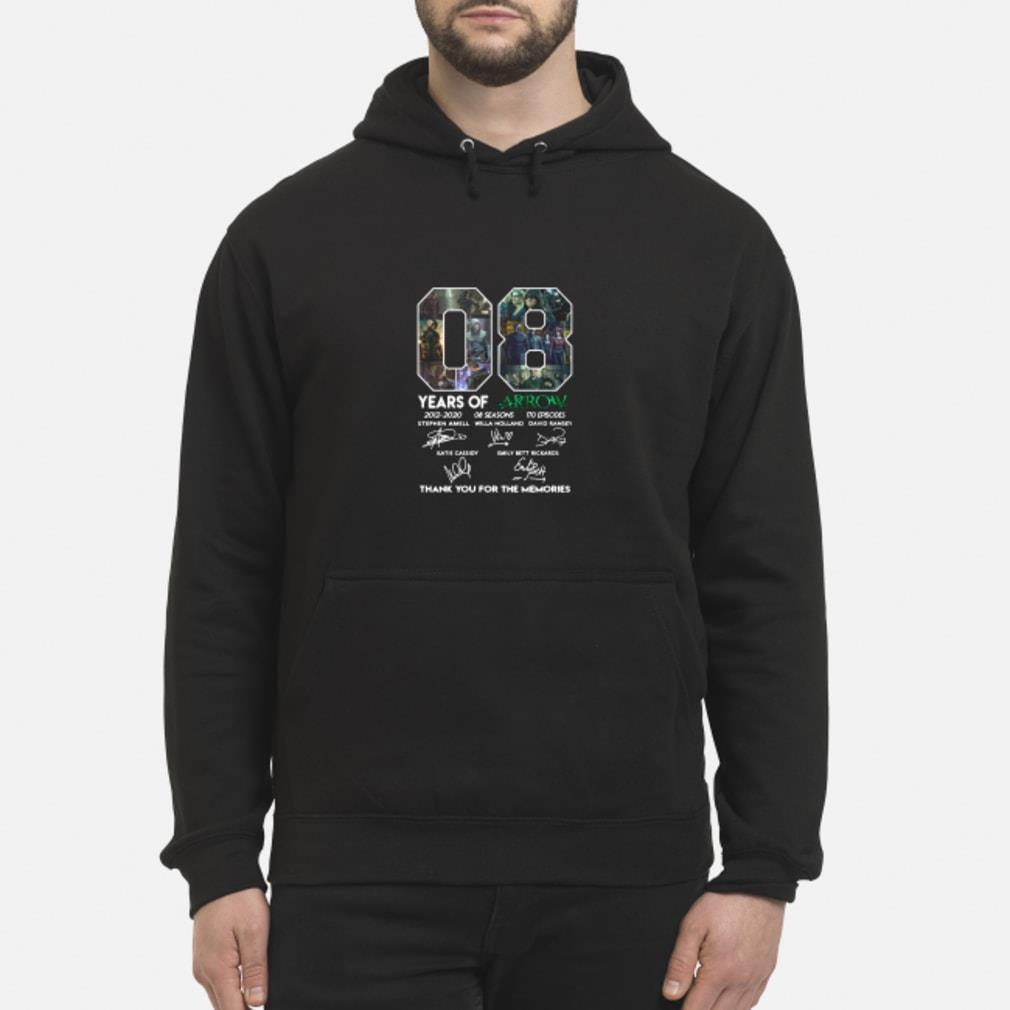 08 Years of Arrow thank you for the memories signature shirt hoodie