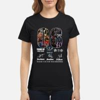 08 years of the SHIELD thank you for the memories signature shirt ladies tee