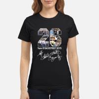 26 Years of Backstreet Boys signature shirt ladies tee