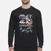 26 Years of Backstreet Boys signature shirt Long sleeved