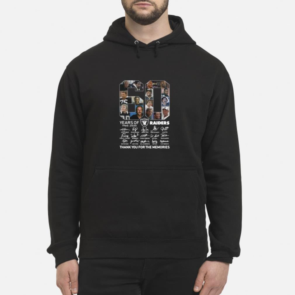 60 years of Oakland you for the memories shirt hoodie
