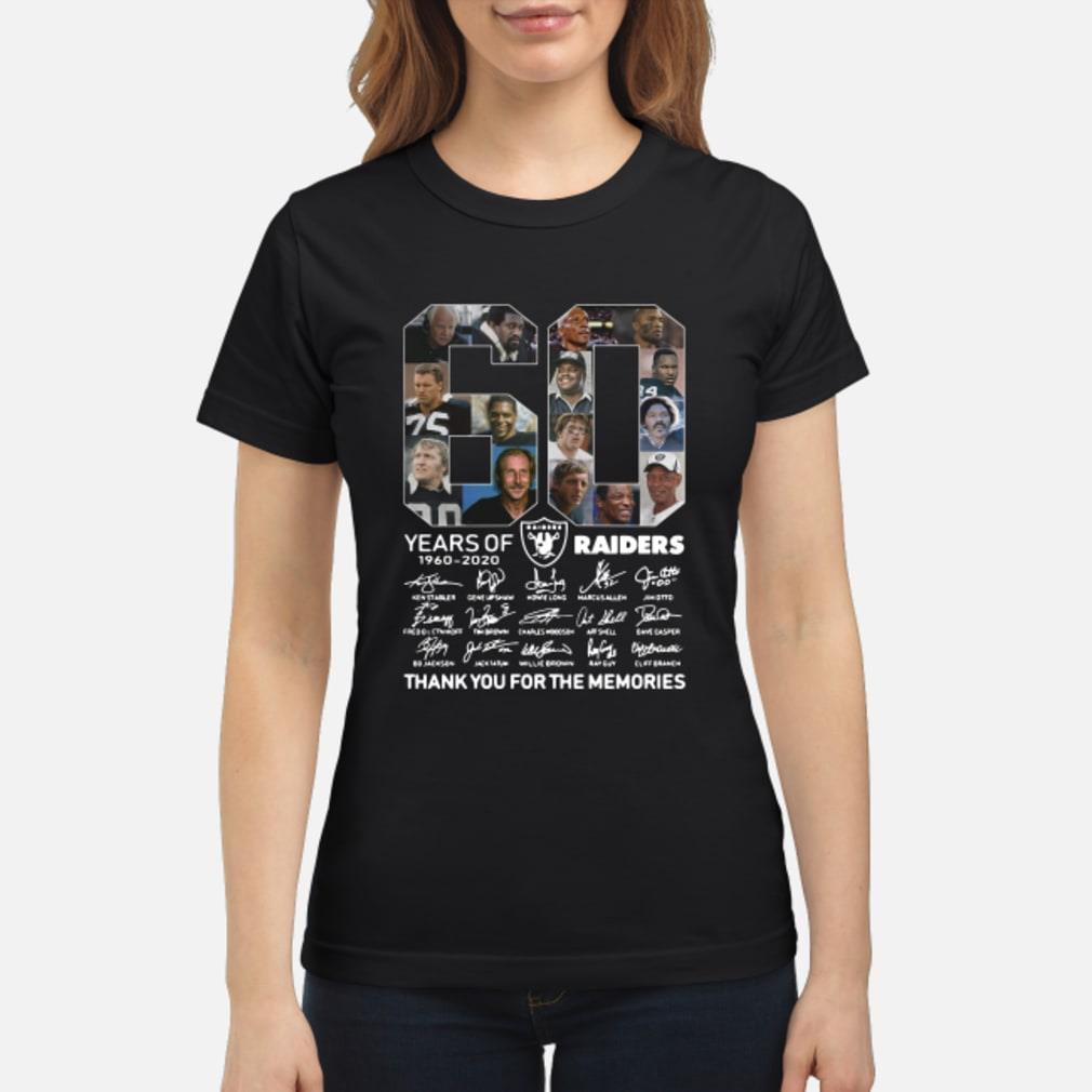 60 years of Oakland you for the memories shirt ladies tee