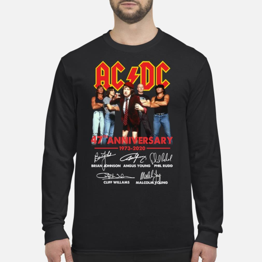 ACDC 47th Anniversary Shirt Long sleeved