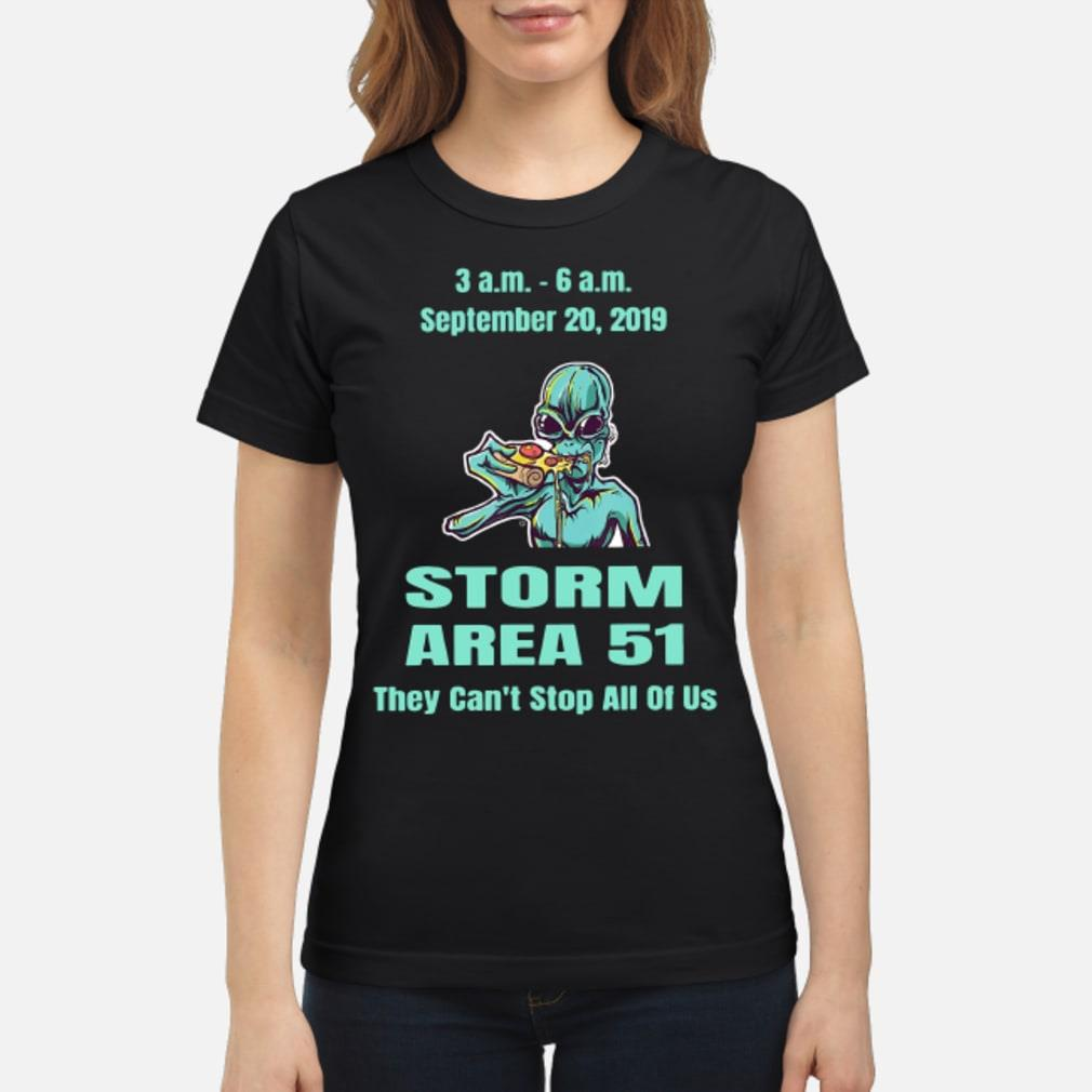 Alien Storm Area 21 they can't stop all of us September 20 2019 Shirt ladies tee