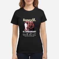 Boney M 45 Anniversary Thank You for The Memories Shirt ladies tee