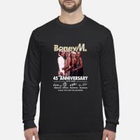 Boney M 45 Anniversary Thank You for The Memories Shirt Long sleeved