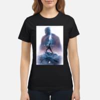 Captain America Worthy Of Thor Hammer T-Shirt ladies tee