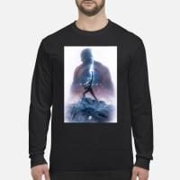 Captain America Worthy Of Thor Hammer T-Shirt Long sleeved