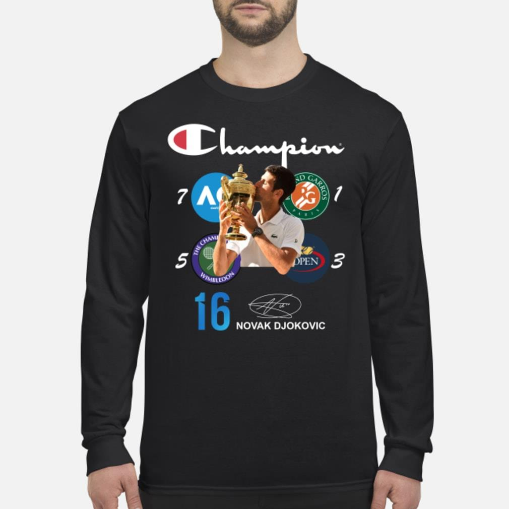 Official Champion 16 Novak Djokovic Shirt Hoodie Tank Top And Sweater