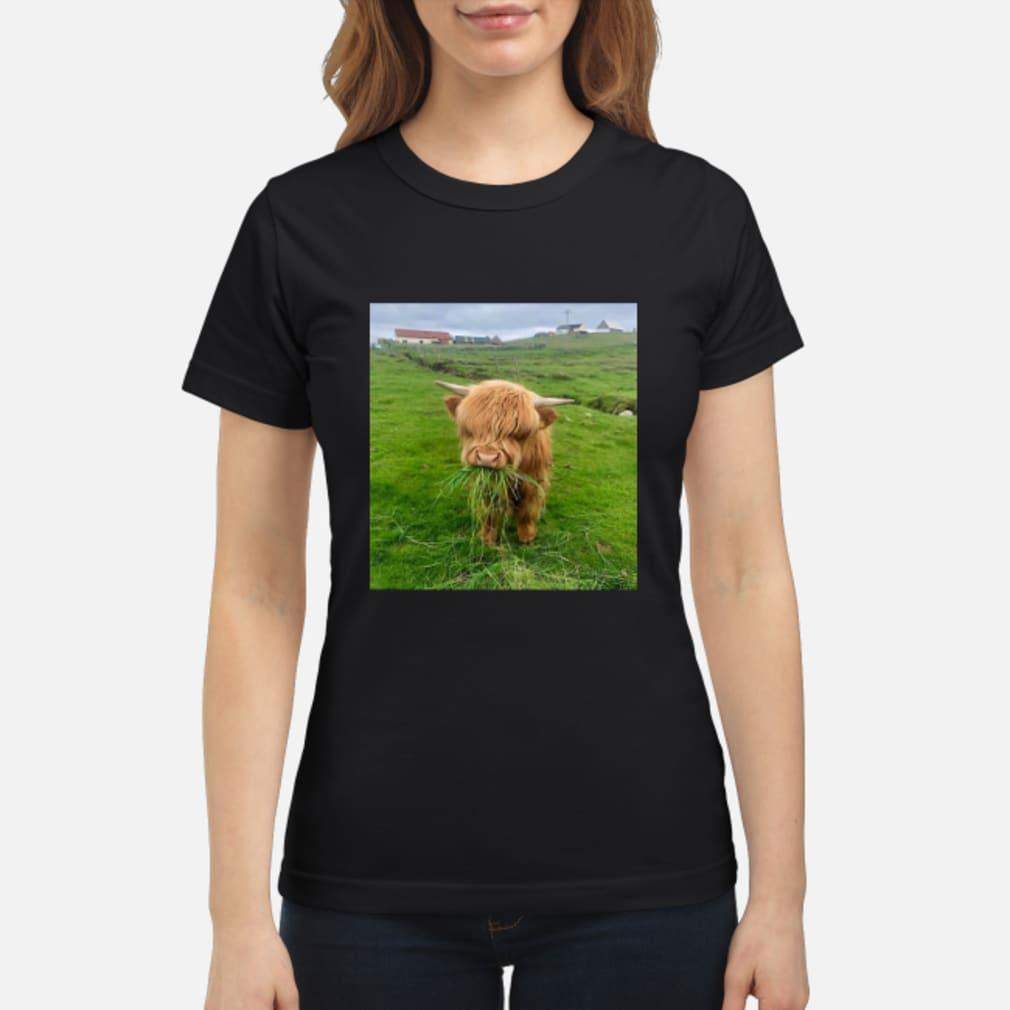Cute Scottish Highland Cattle Shirt ladies tee