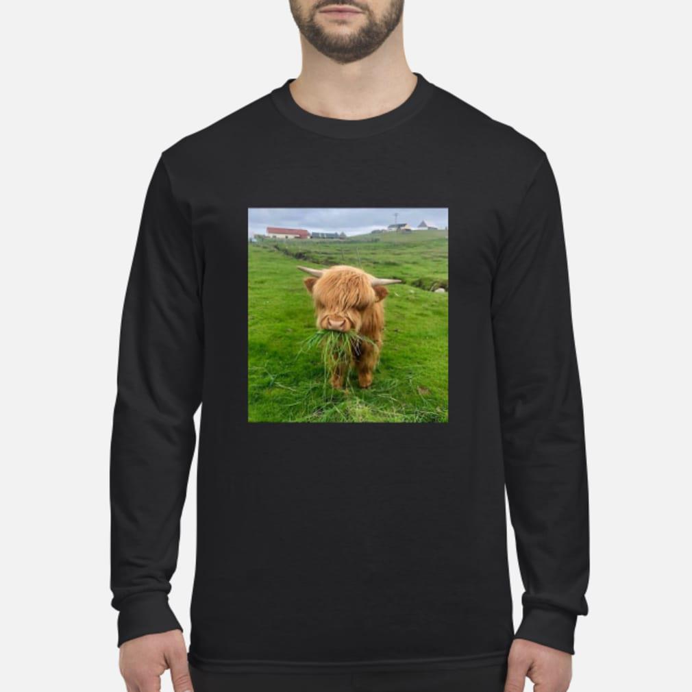 Cute Scottish Highland Cattle Shirt Long sleeved