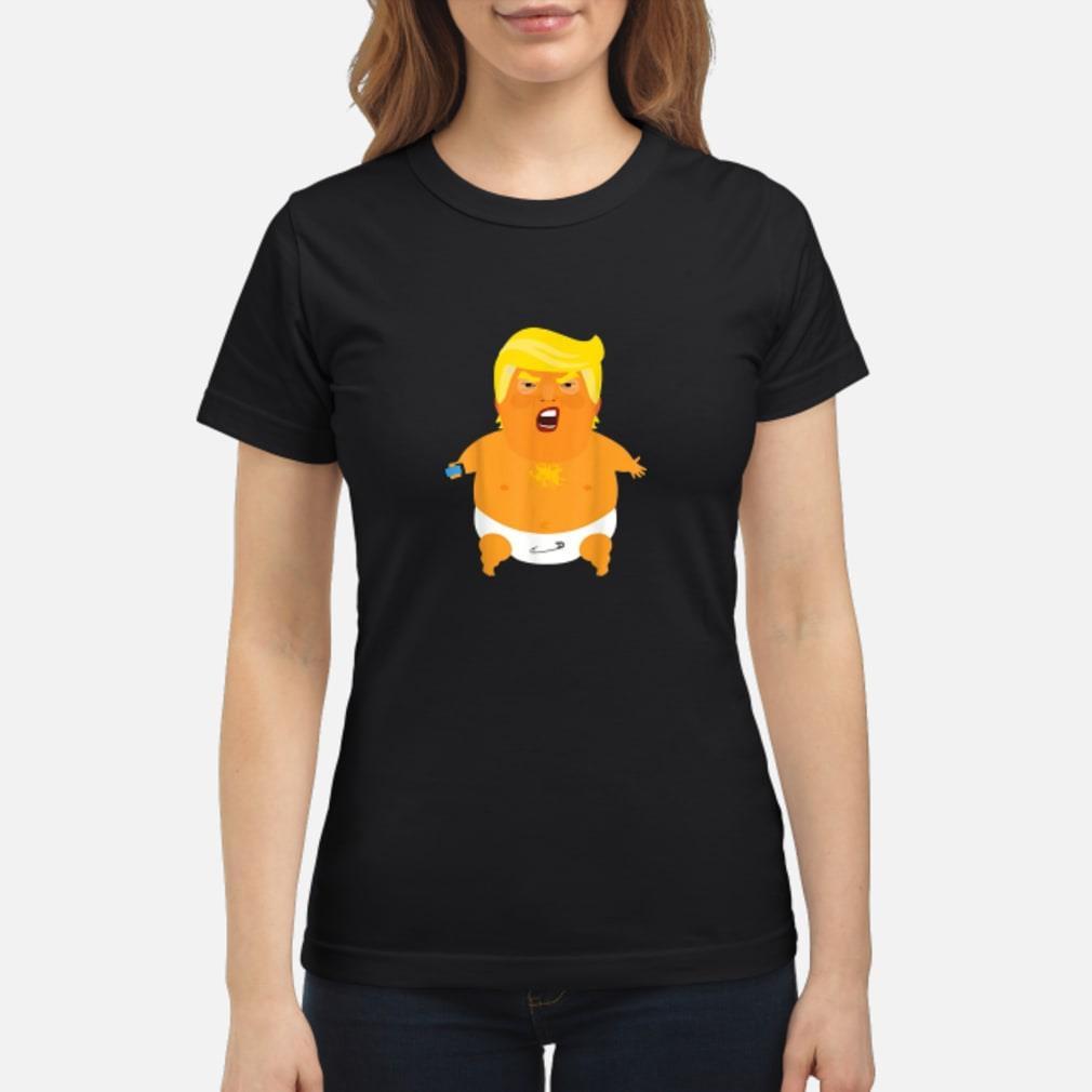 Donald Trump baby balloon Shirt ladies tee