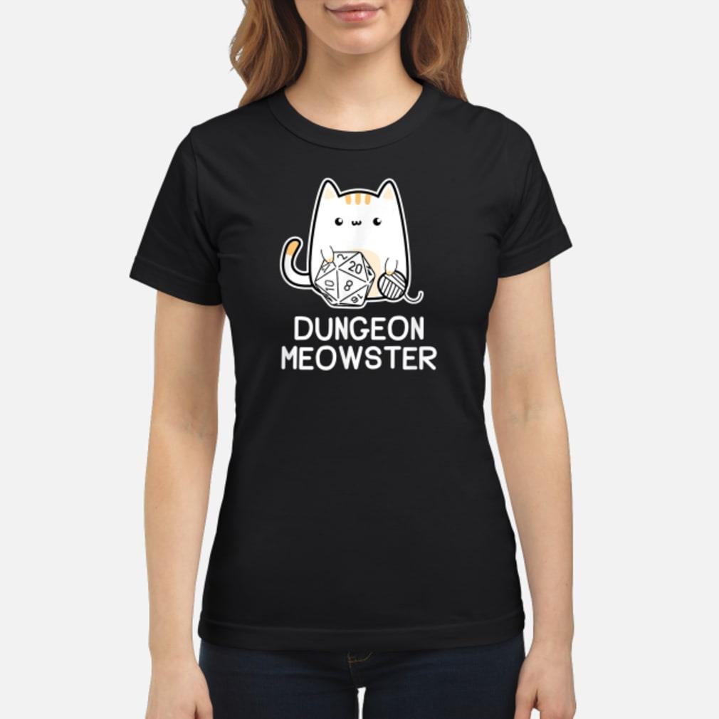 Dungeon Meowster Tabletop Gamer Shirt ladies tee