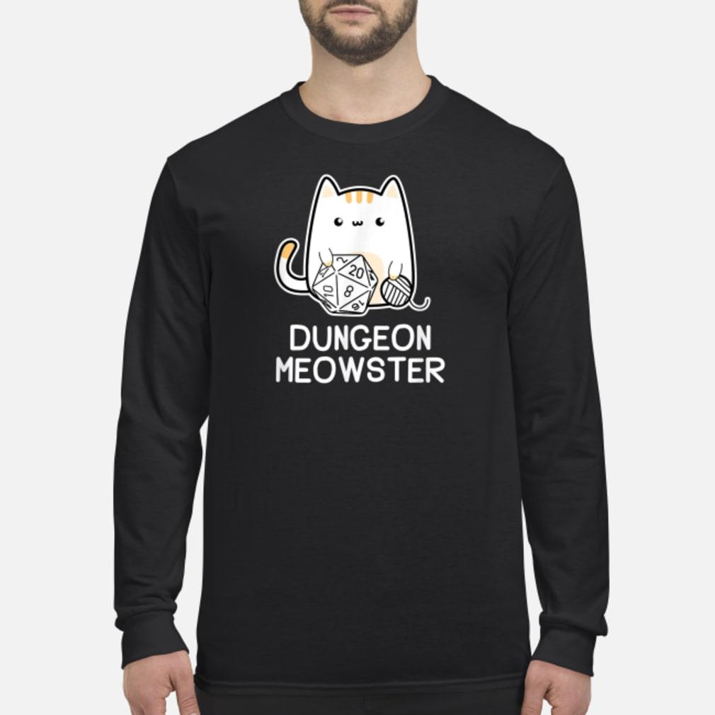 Dungeon Meowster Tabletop Gamer Shirt Long sleeved
