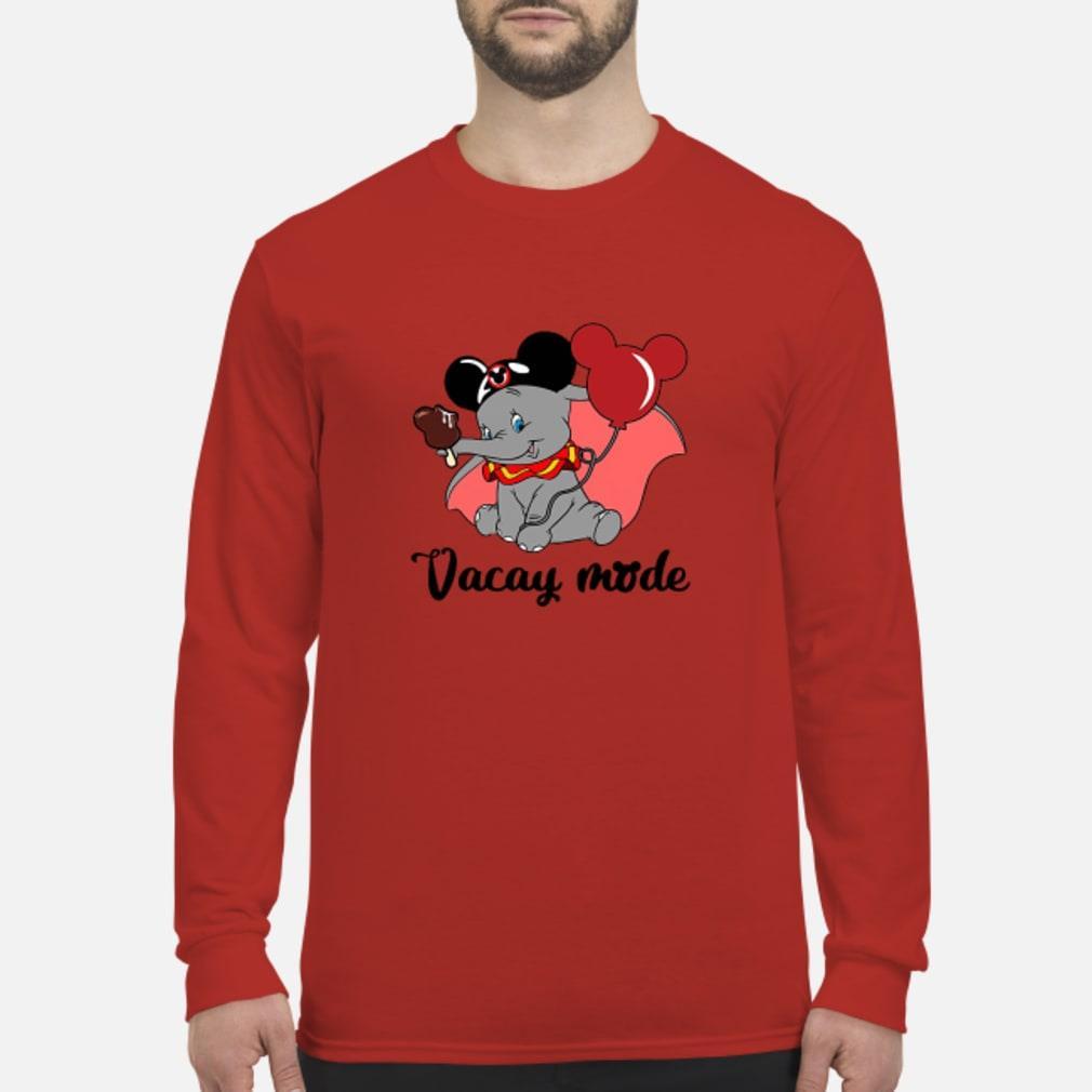 Elephant Vacay mode mickey shirt Long sleeved