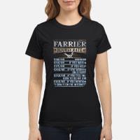 Farrier Hourly Rate shirt ladies tee