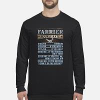 Farrier Hourly Rate shirt Long sleeved