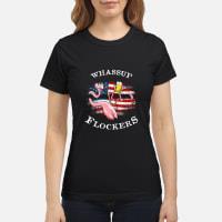 Flamingo Drink Beer Whassup Flockers America Shirt ladies tee